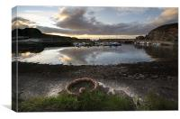 Findochty Harbour, Canvas Print