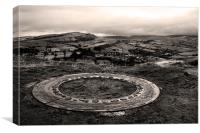 The Ring at Eccles Pike, Canvas Print