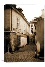 Timeless Street in sepia, Canvas Print