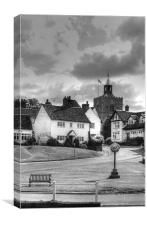 Finchingfield Essex BW, Canvas Print