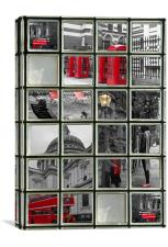 Window on London Sights, Canvas Print