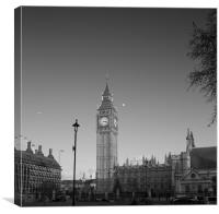 Houses of Parliament  bw, Canvas Print