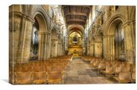 Rochester Cathedral interior HDR, Canvas Print