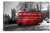 Classic Red Routmaster bus, Canvas Print