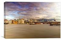 London  Skyline Waterloo  Bridge, Canvas Print