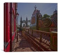 Hammersmith Thames Bridge, Canvas Print