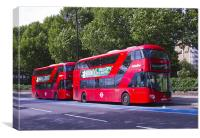 New London Red Bus, Canvas Print