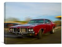 Classic Oldsmobile, Canvas Print