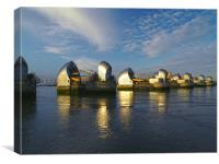 Thames Flood Barrier, Canvas Print