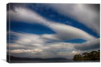 Clouds over Ulswater , Canvas Print