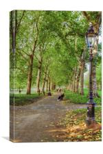 Green Park HDR and Fractilius version, Canvas Print