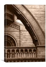 Natural History Museum Kensington toned, Canvas Print