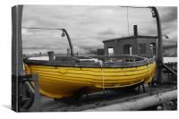 Yellow Life Boat, Canvas Print