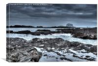 Rocks and the Bass Rock, Canvas Print