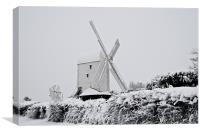 Jill mill in the snow, Canvas Print