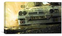 Opel Manta up close and personal, Canvas Print