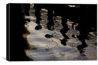 pontoon reflections, Canvas Print