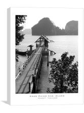 thailand jetty. james bond island, Canvas Print