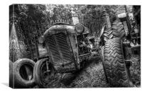 Old Tractor, Canvas Print
