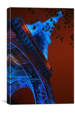 Eiffel tower at night, Canvas Print