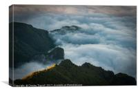 View from Pico Ruivo, Madeira, Portugal, Canvas Print