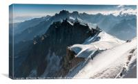 View from Aiguille du Midi - Mont Blanc, Canvas Print