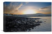 Ballygally sunset, Canvas Print