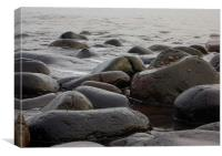 Boulders on the beach, Canvas Print