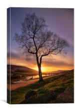 Sunset over Dovestone Reservoir, Canvas Print