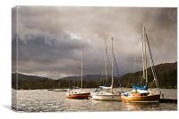 Boats at Windermere, Canvas Print