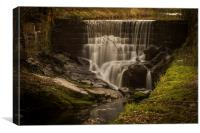 Roughlee Waterfall, Canvas Print