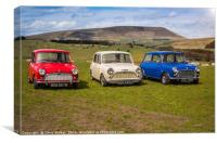Classic Minis with Pendle Hill, Canvas Print