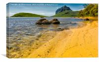 Tropical Beach - Mauritius, Canvas Print