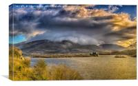 Loch Awe and Kilchurn Castle, Canvas Print