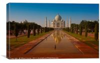 The Taj Mahal at Sunset, Canvas Print