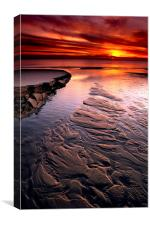 Little Pigeon Creek Sunset at Lake Michigan, Canvas Print