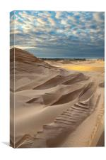 Sand Dune And Clouds, Lake Michigan, Canvas Print