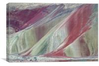 Painted Layers, Painted Hills of Oregon, USA, Canvas Print