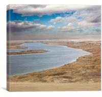 Clearing Winter Storm, White Bluffs Ferry Landing, Canvas Print