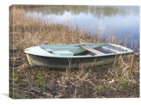 Discarded boat, Canvas Print