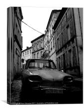 Old French Car, Canvas Print