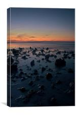 East Runton After Dark, Canvas Print