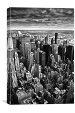 View from the Empire State Building in Black and W, Canvas Print