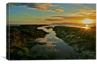 Brook Chine, Freshwater Bay, Isle of Wight, Canvas Print