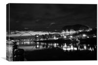Night Tyne, Canvas Print