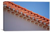 Roof tiles, Canvas Print