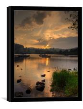 Lake Ullswater at dusk2, Canvas Print