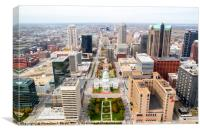 view from Gateway Arch , Canvas Print