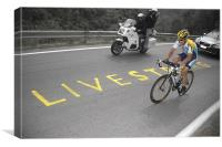 Lance Armstrong-LIVESTRONG, Canvas Print