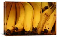 Bananas in a Market, Canvas Print